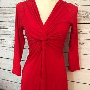 Boston Proper summer sexy blouse size xs red